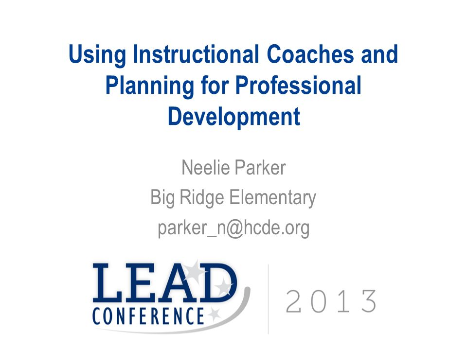 Using Instructional Coaches And Planning For Professional