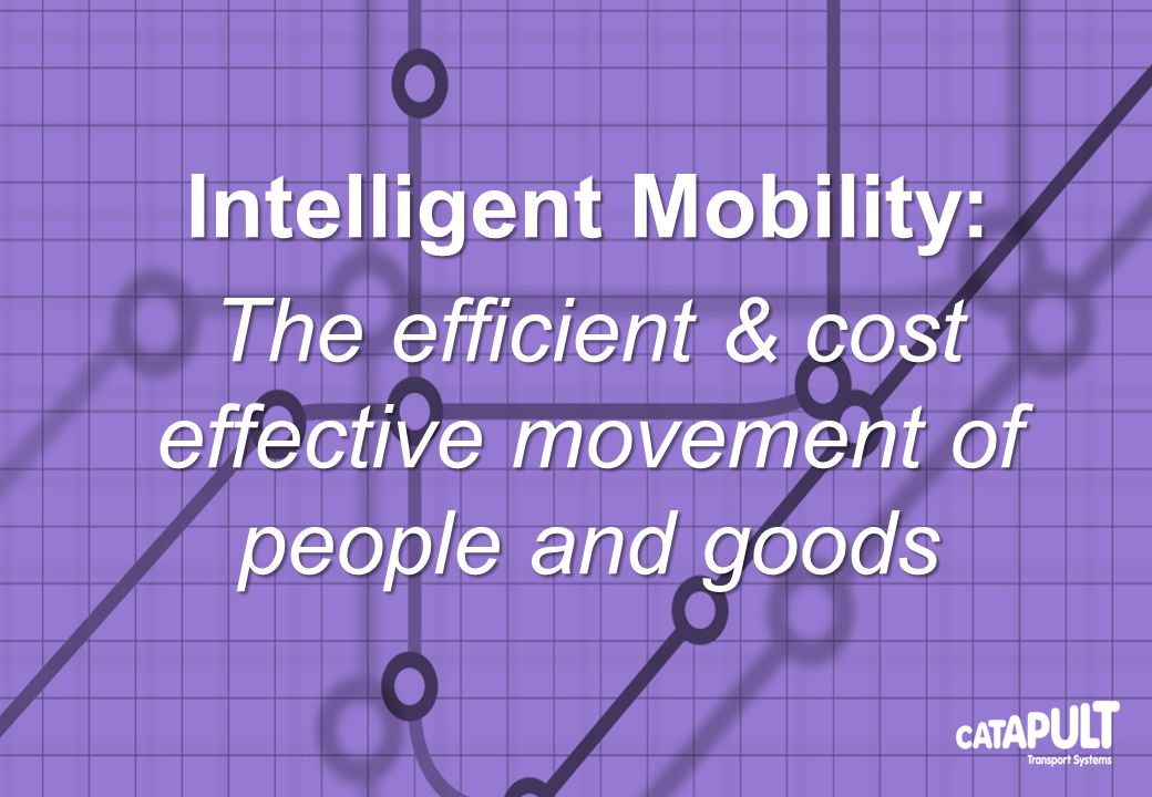 Intelligent Mobility: The efficient & cost effective movement of people and goods