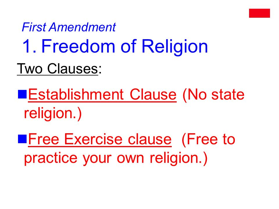 First Amendment 1.