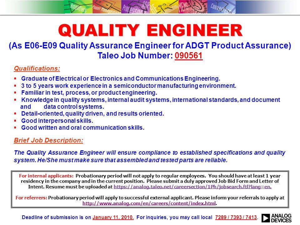 Qualifications:  Graduate of BS Electronics