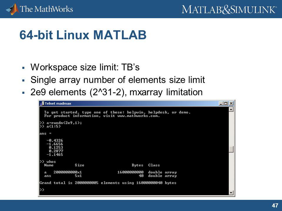 2005 The MathWorks, Inc  Handling Large Data Sets