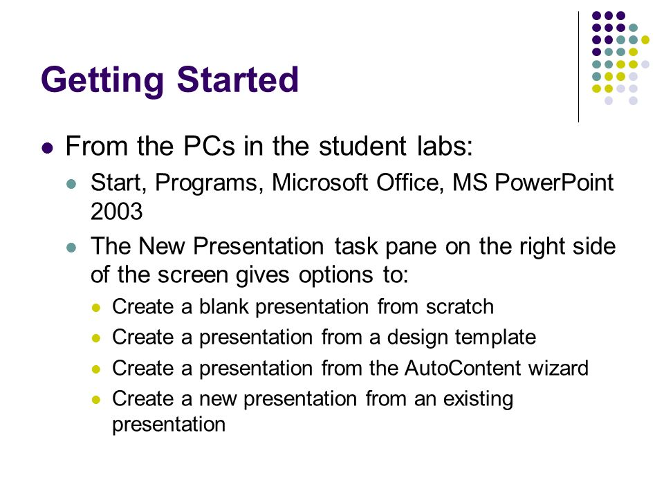 Introduction to powerpoint 2003 learning and research technical unit 3 getting toneelgroepblik Image collections