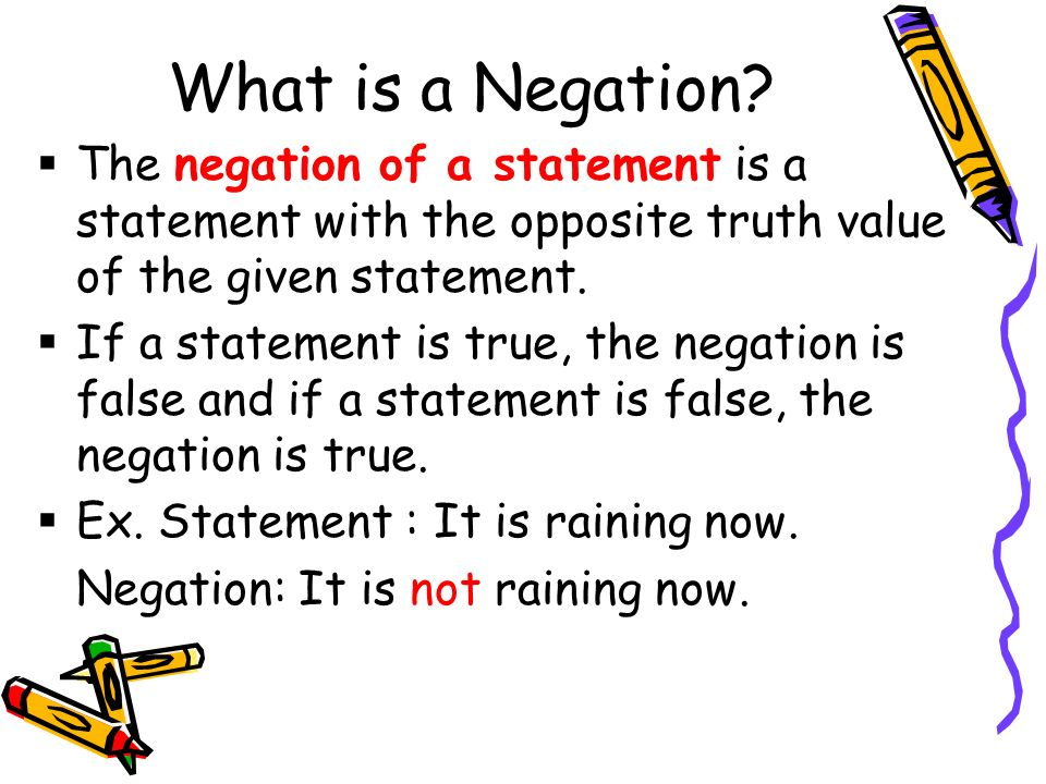 What is a Negation.