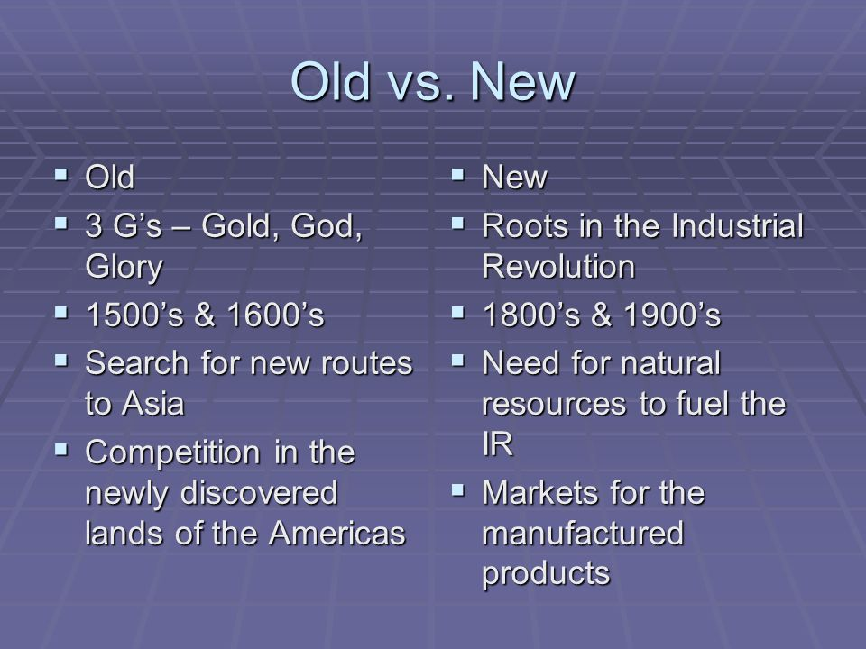 old vs new imperialism