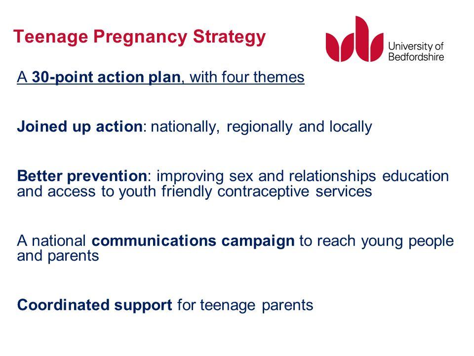 the teenage pregnancy strategy