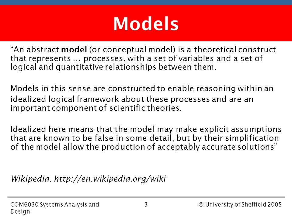 1com6030 Systems Analysis And Design C University Of Sheffield 2005 Com 6030 Software Analysis And Design Lecture 4 System Modelling Dr Richard Clayton Ppt Download