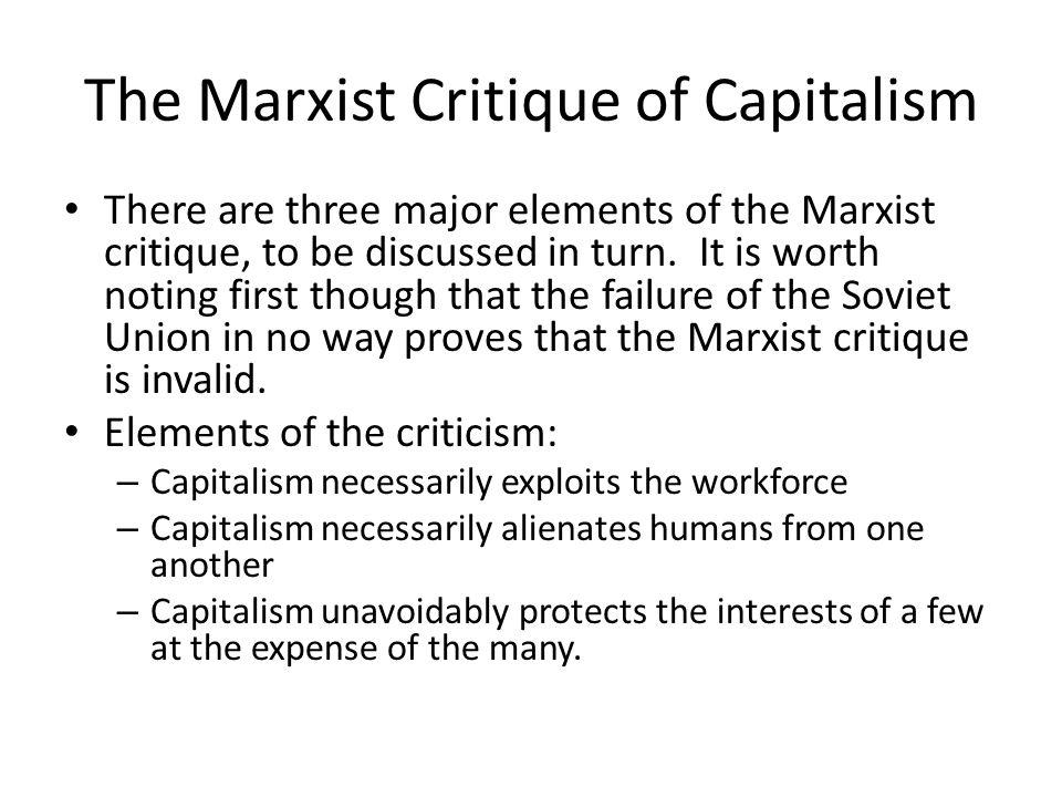 marx criticism of capitalism