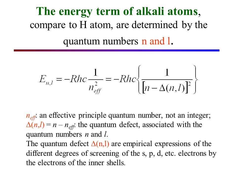 The screening effect of the inner electrons can be quantitatively calculated, if one knows their charge distribution with sufficient accuracy.