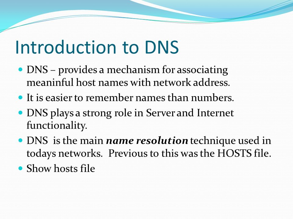 Introduction to Networking Concepts  Introducing TCP/IP