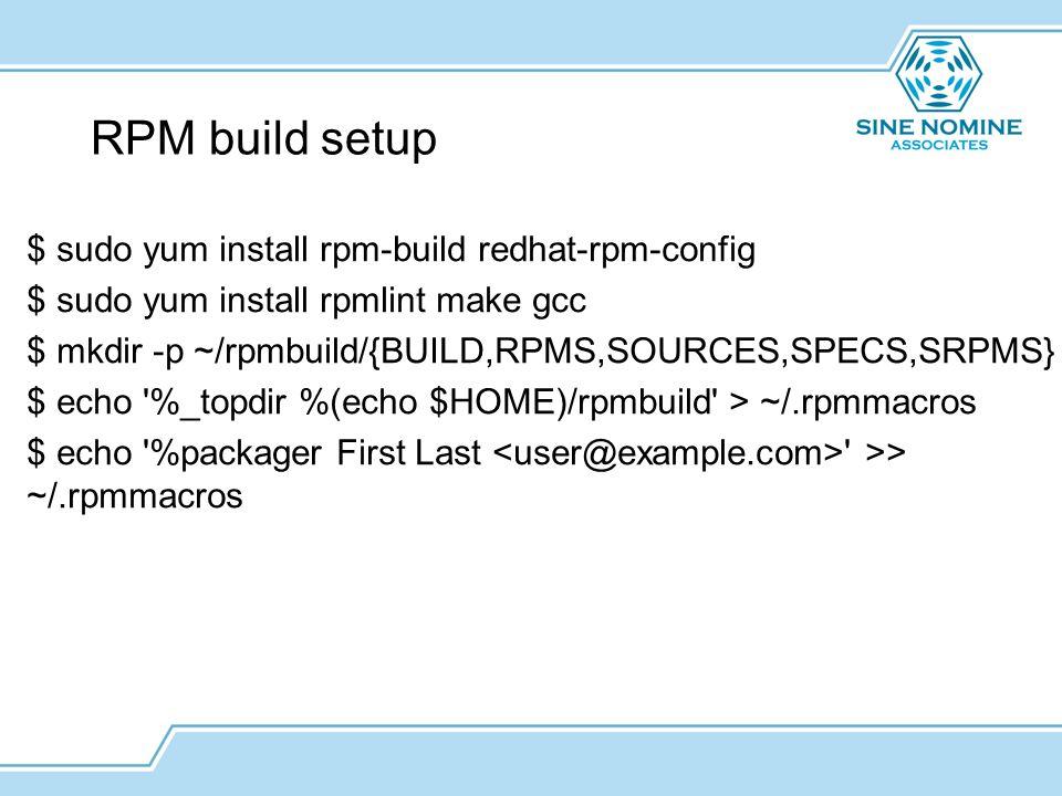 install rpmbuild rpm