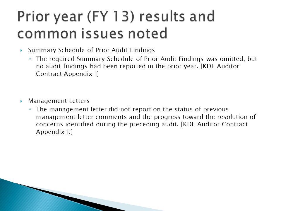 Kentucky Auditor of Public Accounts David Pitts, Audit