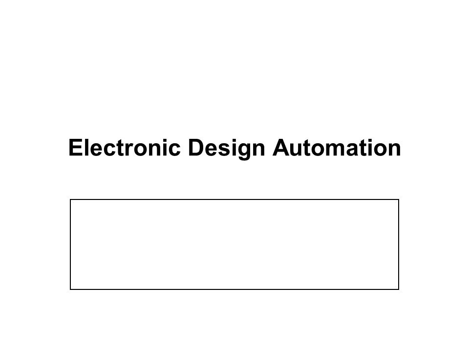 electronic design automation course outline 1 digital circuit