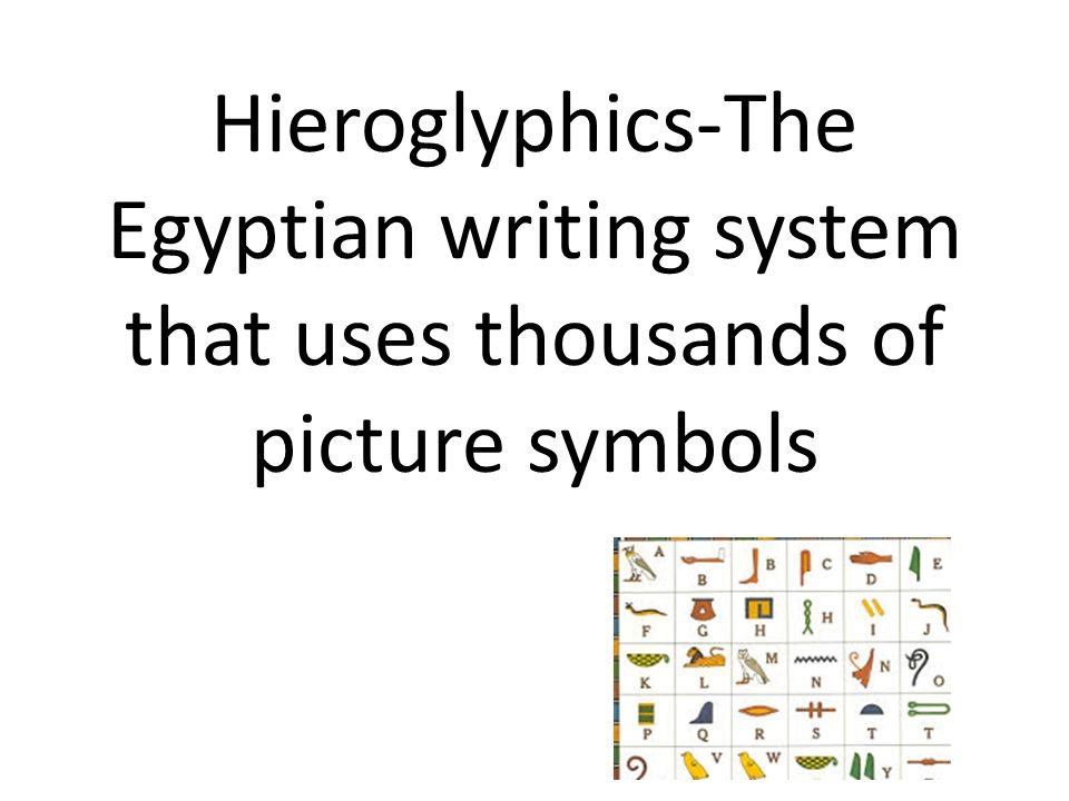 Hieroglyphics The Egyptian Writing System That Uses Thousands Of