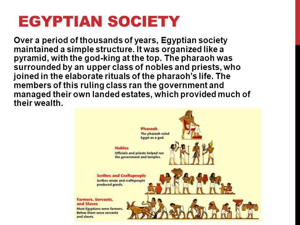 LIFE IN ANCIENT EGYPT  Egyptian Society was highly