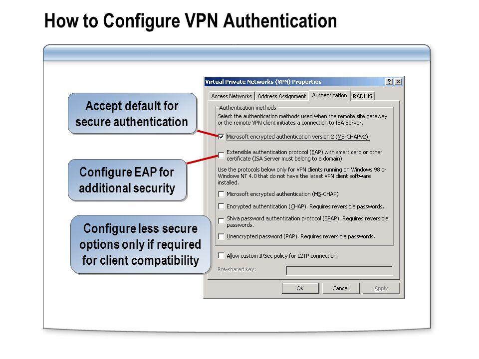 Module 8: Configuring Virtual Private Network Access for Remote