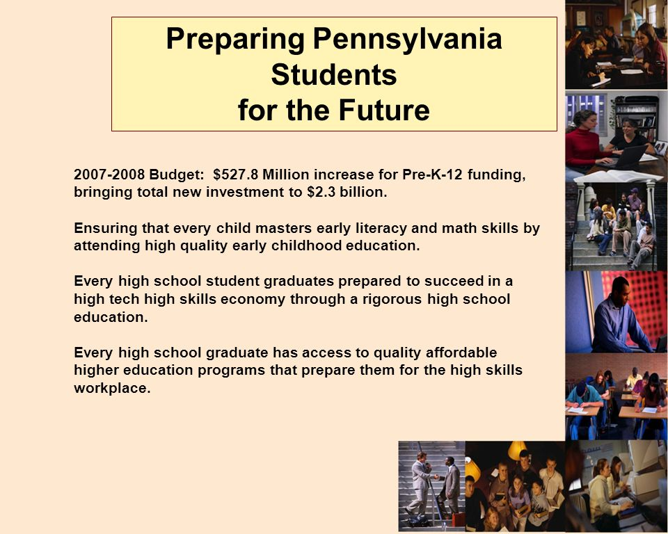 Budget: $527.8 Million increase for Pre-K-12 funding, bringing total new investment to $2.3 billion.