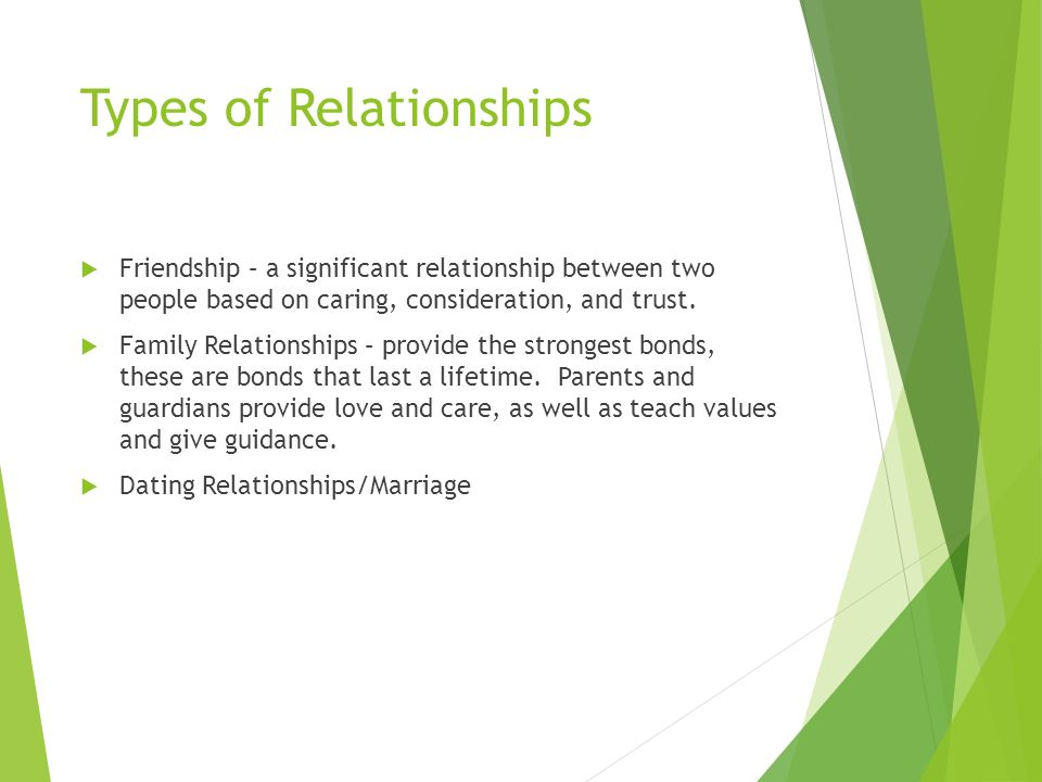 Types of organismal relationships dating