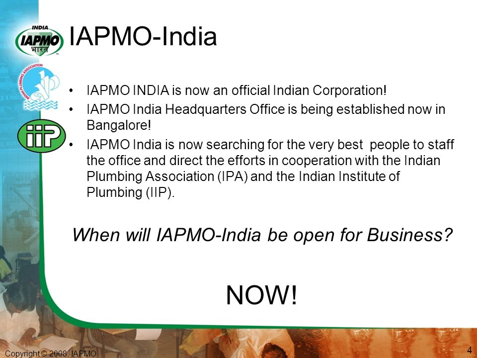 Upc I And Ipa Iip Iapmo Education To Employment Program Designed For