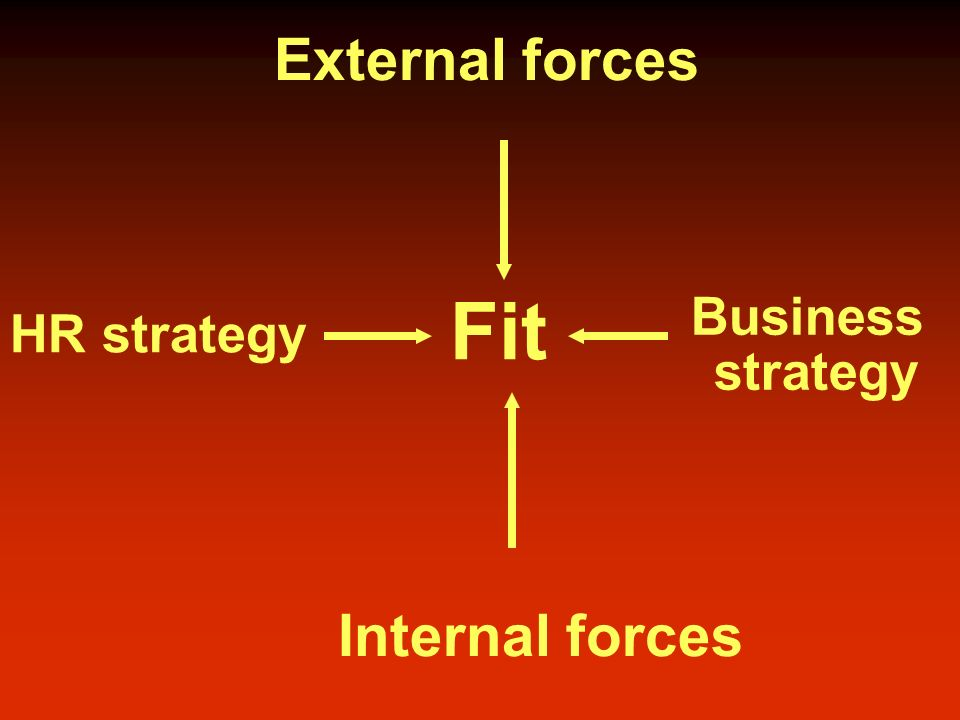 The fit between HR & business strategy