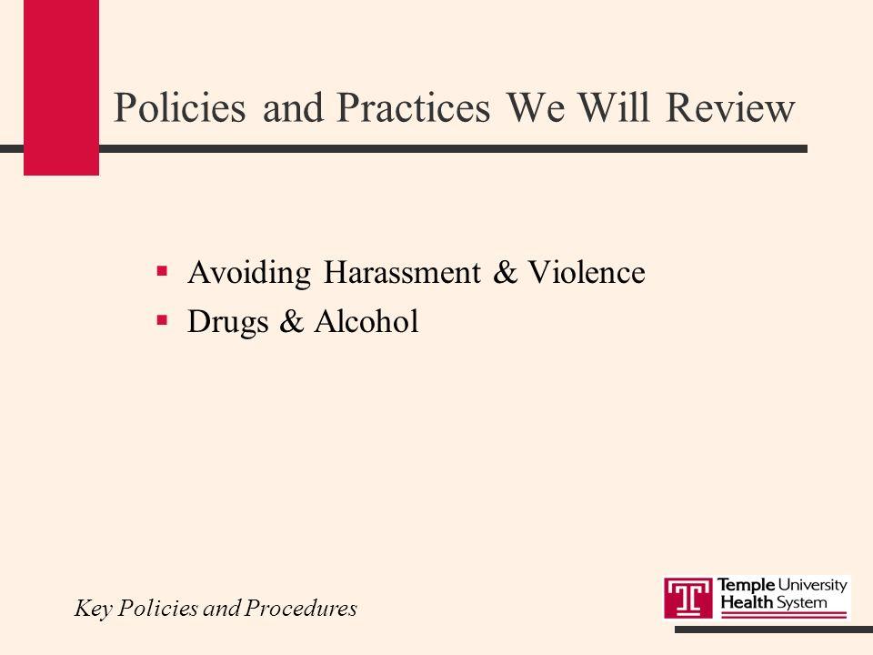 Temple University Hospital Resident Orientation Key Policies