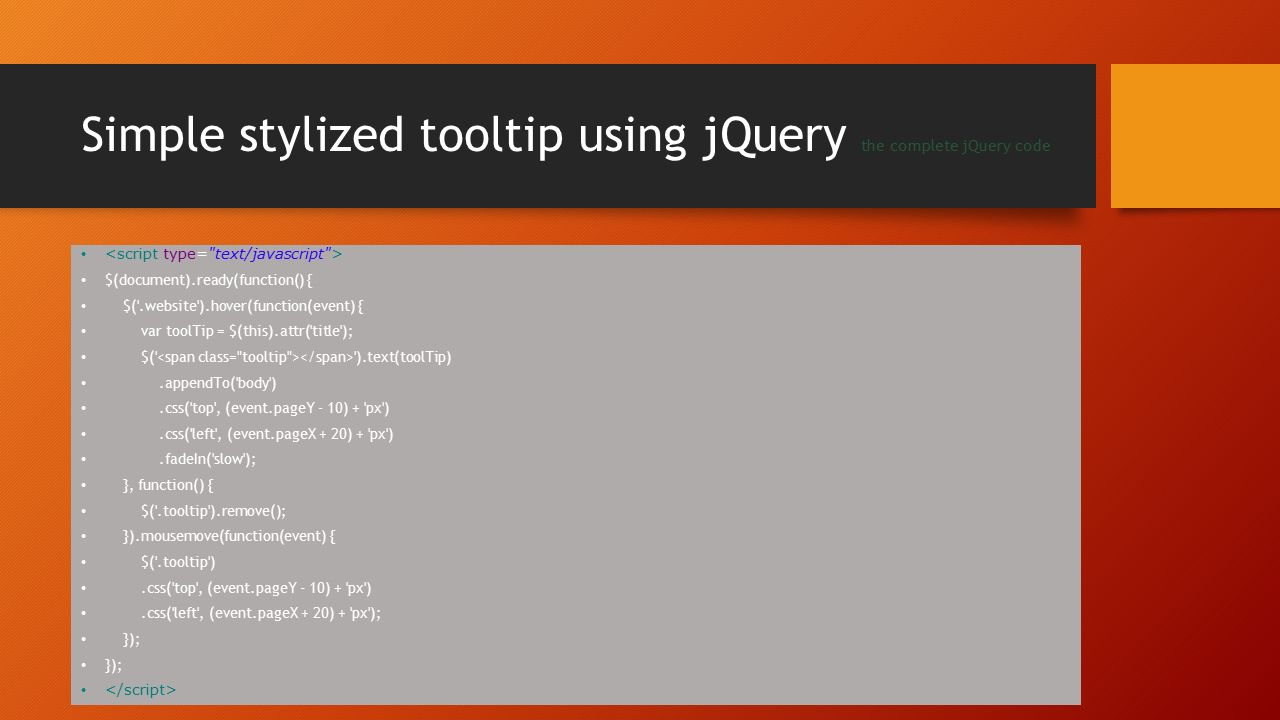 JQuery $(document) ready alternatives - ppt download