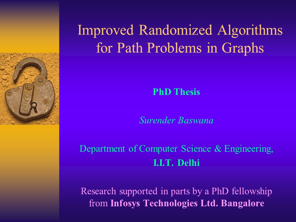 thesis on algorithms