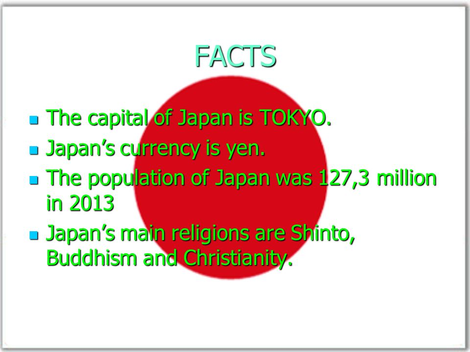 The Land Of The Rising Sun Map Of Japan Facts The Capital Of Japan