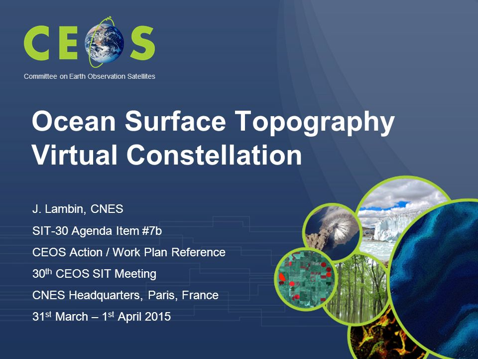 Ocean Surface Topography Virtual Constellation J.