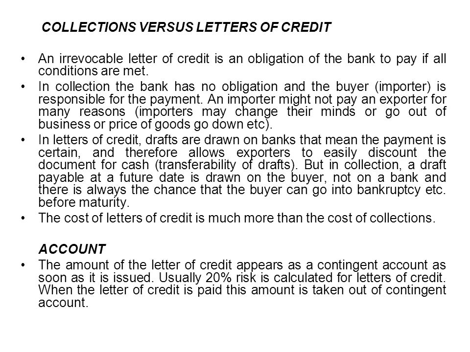 CHAPTER EIGHT THE BASIC LETTER OF CREDIT With a letter of credit