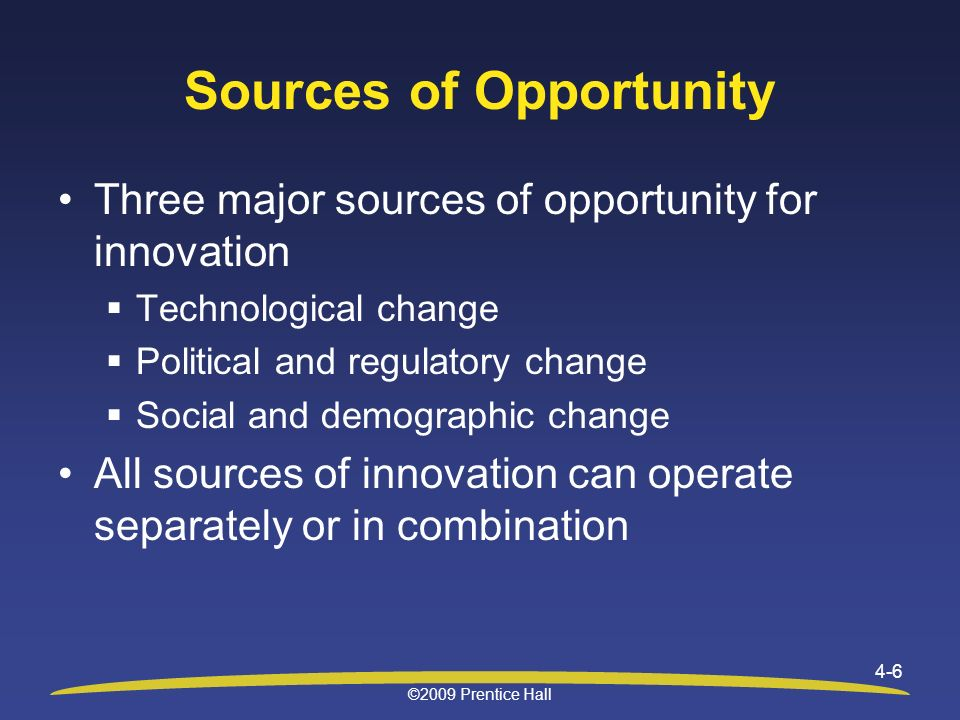 three major sources of social change