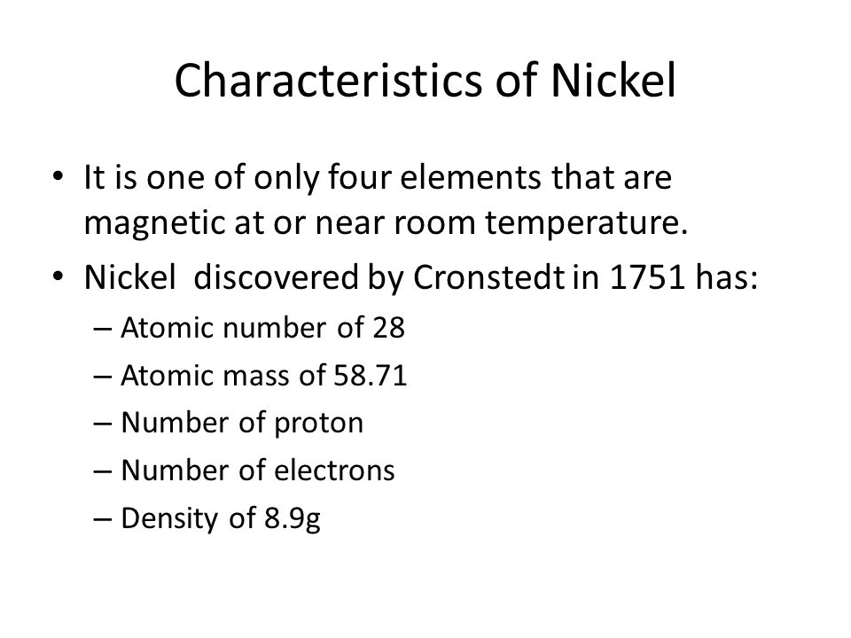 Who Discovered Nickel