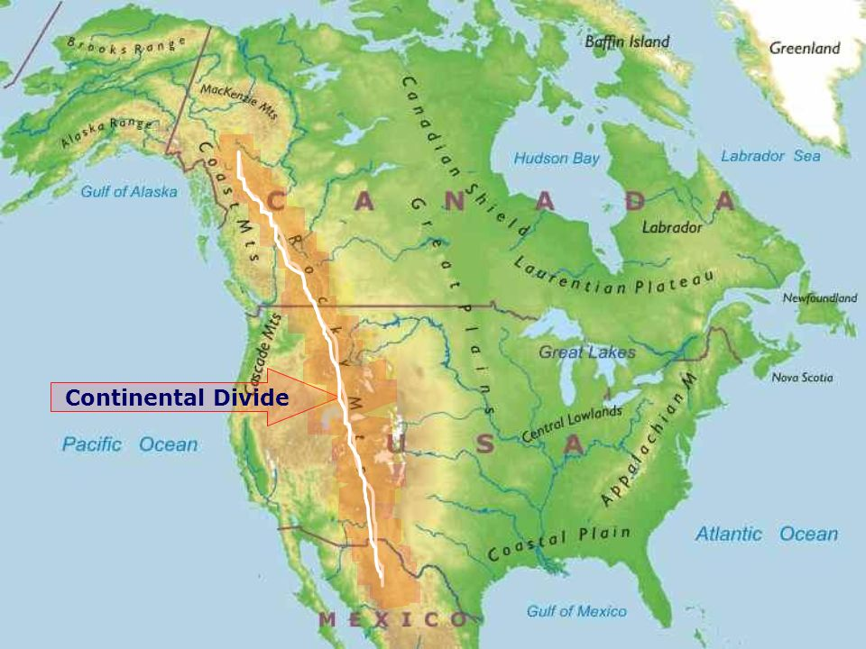U.S & Canada Physical Features. Location U.S & Canada are in North ...