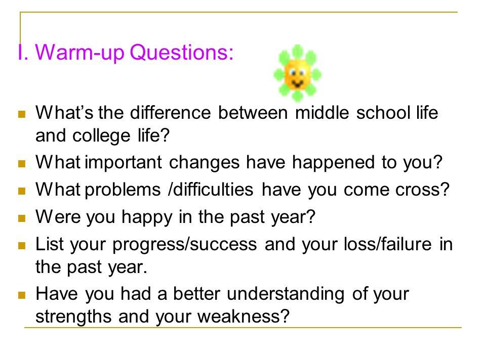 school life vs college life paragraph