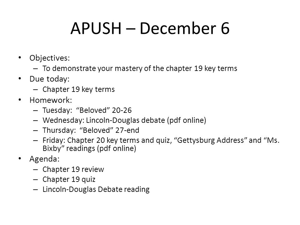chapter 11 apush key terms Site map: this page allows you to access all the content for this course from one area click on the links below to view the content or chapters listed within.