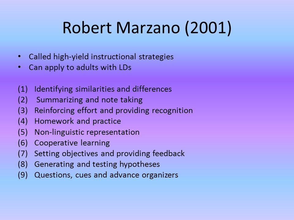 Instructional Strategies Strategies For Ld Adults Strategies Are