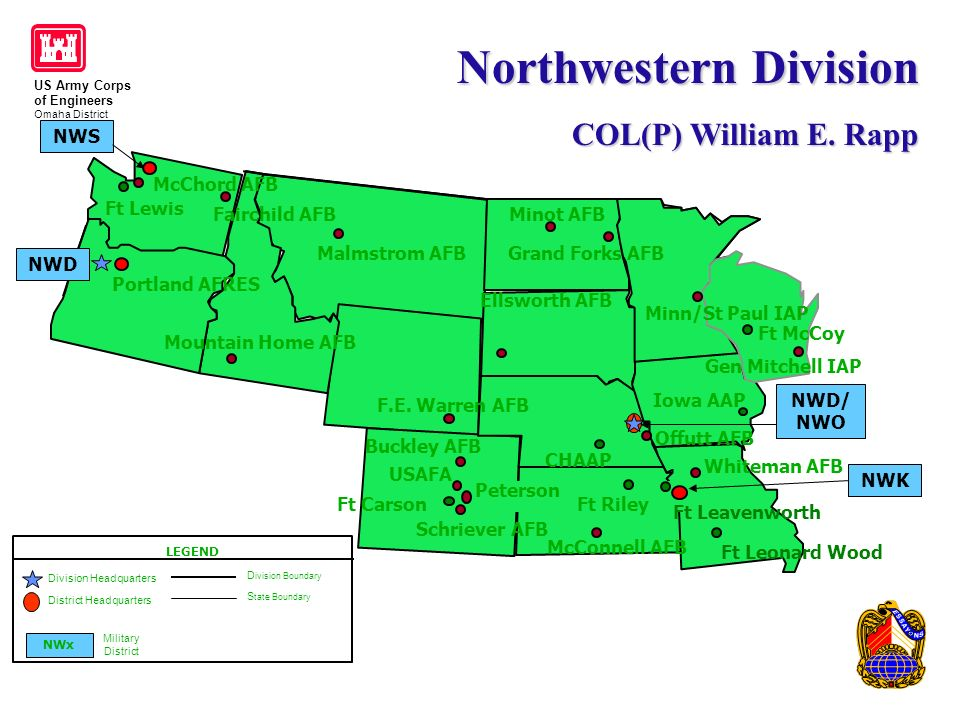 Us Army Corps Of Engineers Omaha District Office Of Small Business - Us-army-corps-of-engineers-district-map
