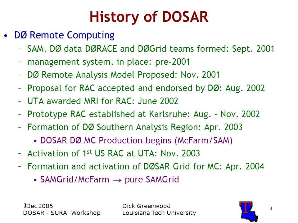 DOSAR SURA Cyberinfrastructure Workshop: