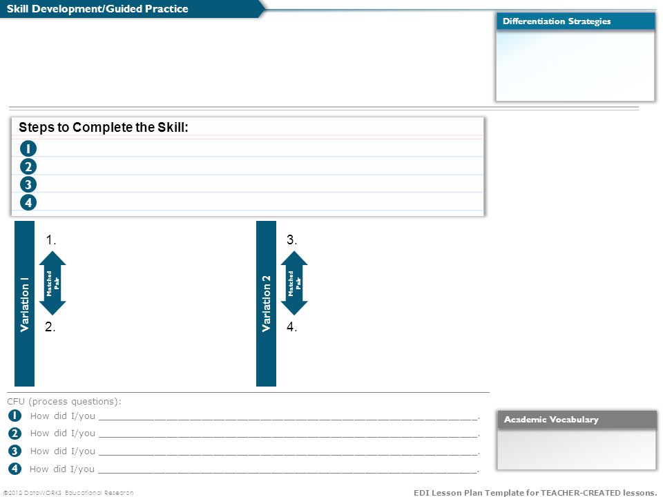 2012 Dataworks Educational Research Edi Lesson Plan Template For