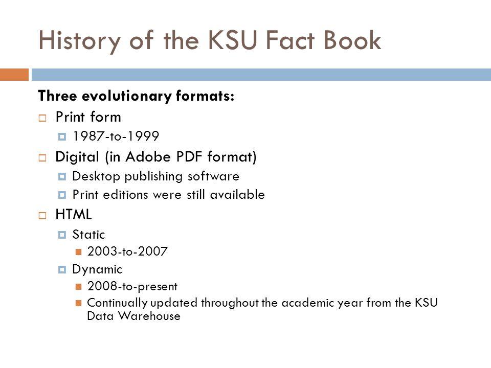 BROWN BAG SERIES: NAVIGATING THE KSU FACT BOOK FOR DATA