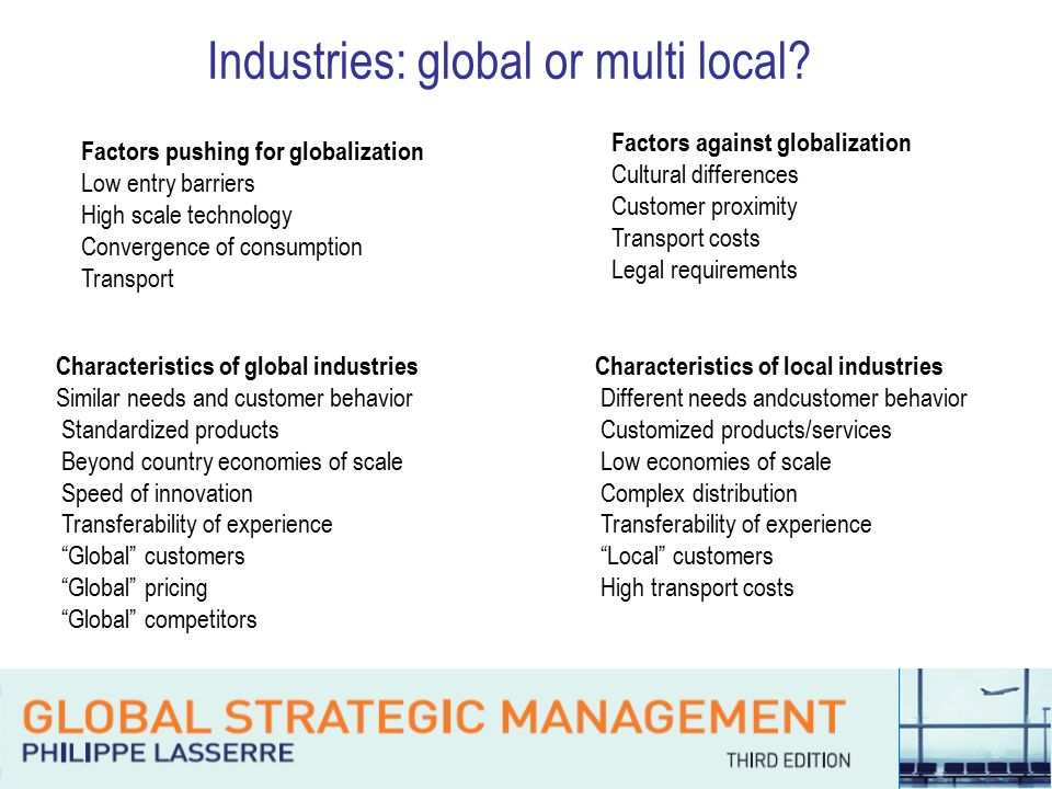 how has the local industry been affected by globalization