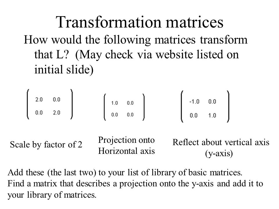 2 2 Linear Transformations in Geometry For an animation of this