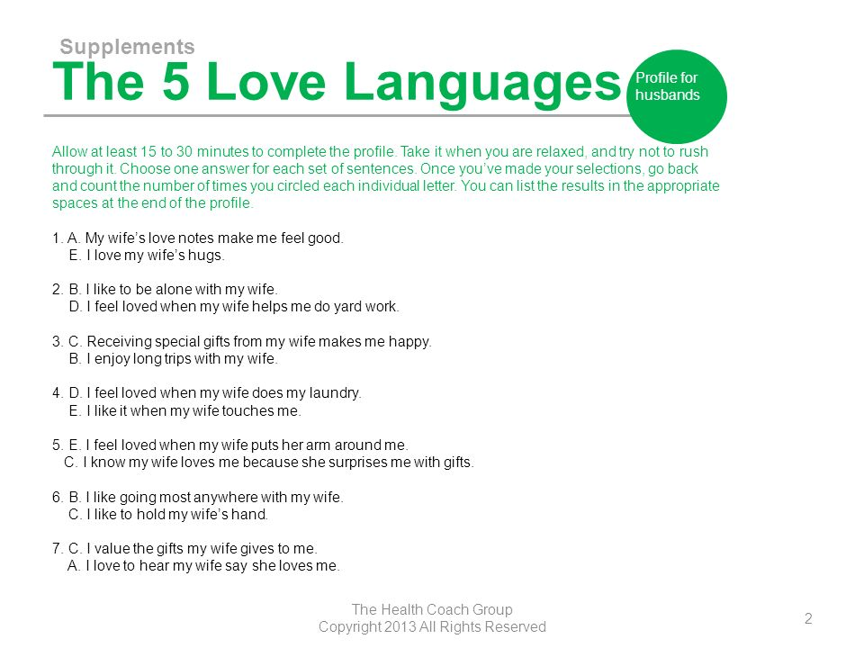 the 5 love languages for her