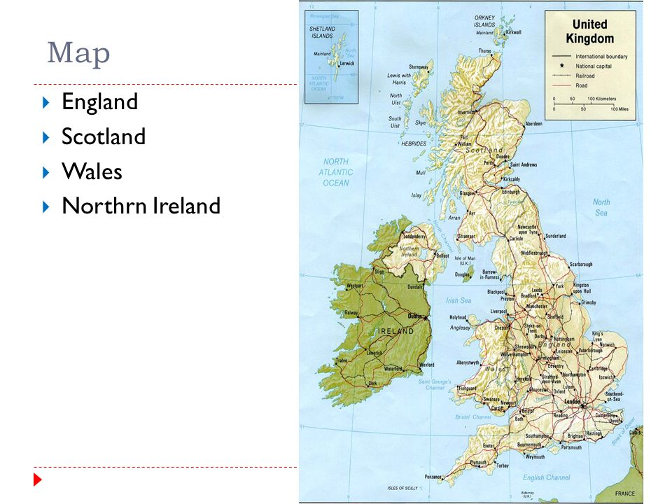 Map Of England Ireland Scotland Wales.The United Kingdom General Information Map England Scotland