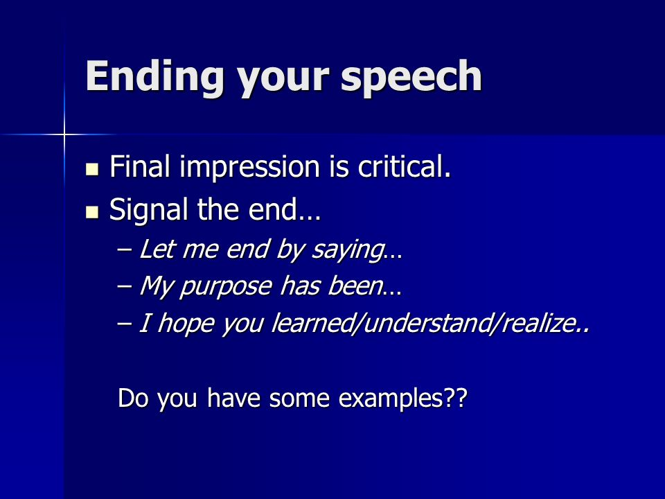 speech conclusion generator