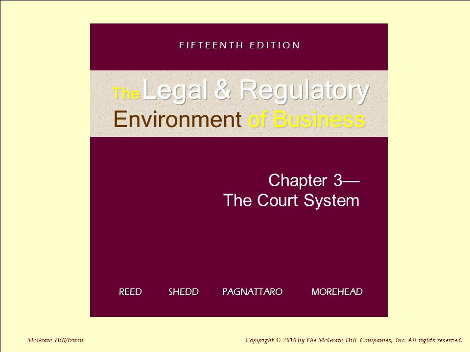 3 1 Chapter 3 The Court System REED SHEDD PAGNATTARO