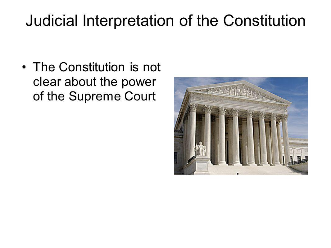Judicial Interpretation
