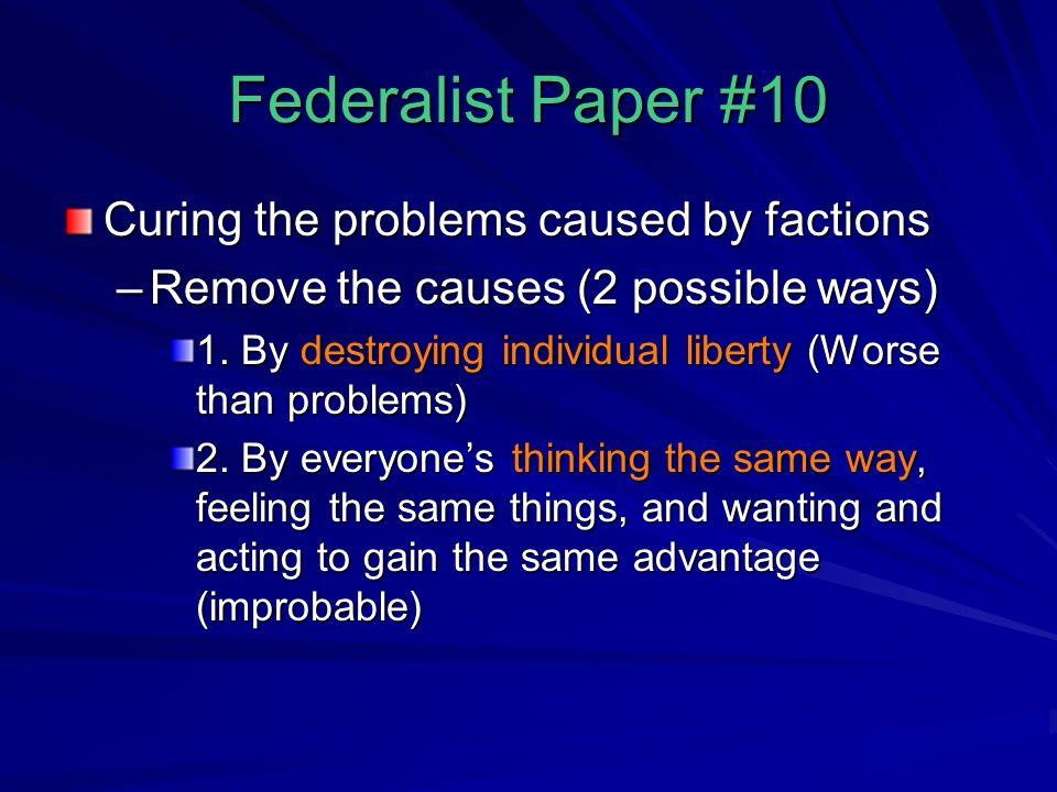 federalist paper number 10
