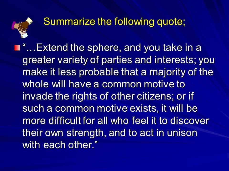 federalist no 10 summary