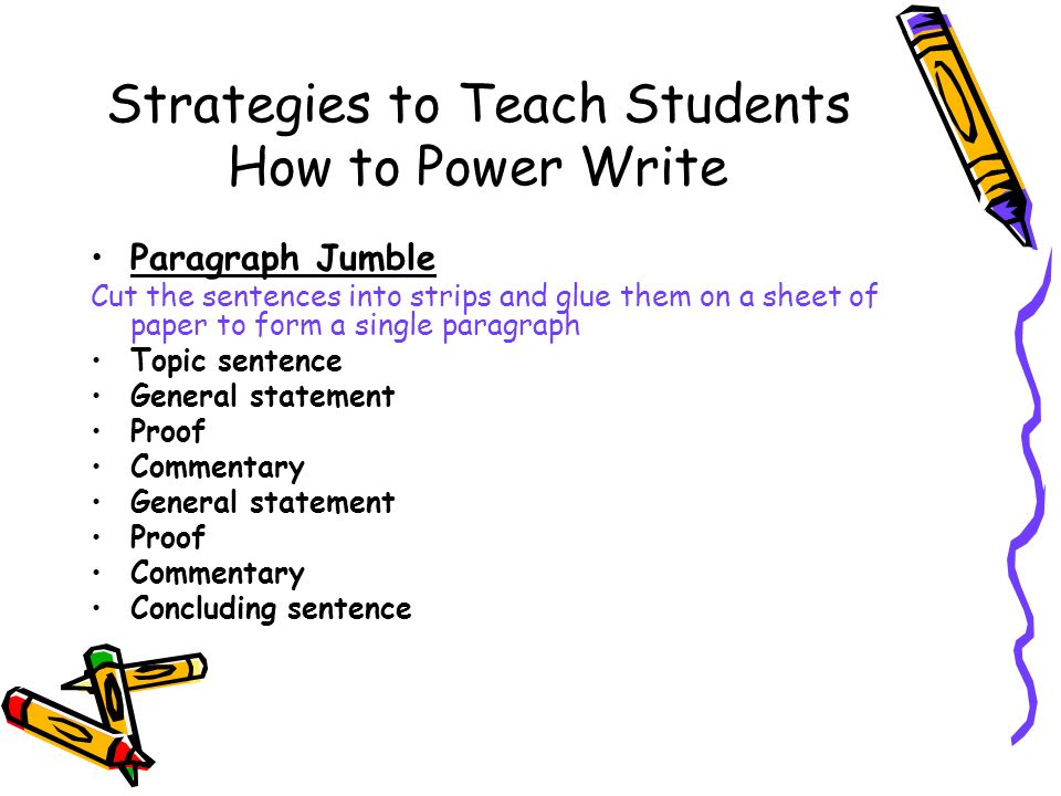 how to write a power paragraph