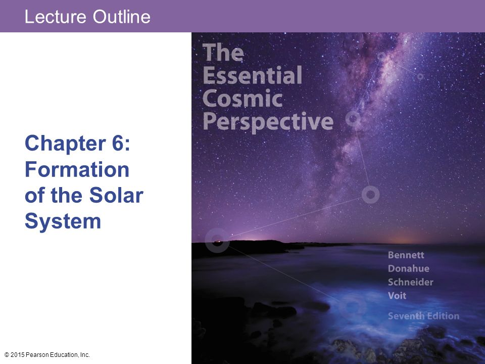 Lecture Outline Chapter 6: Formation of the Solar System © 2015 Pearson Education, Inc.